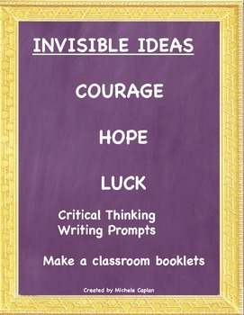 Invisible Ideas Pacakge Courage, Hope and Luck Social Emot