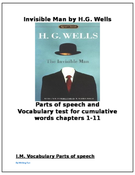 Invisible Man by Wells Vocabulary Test and Parts of Speech