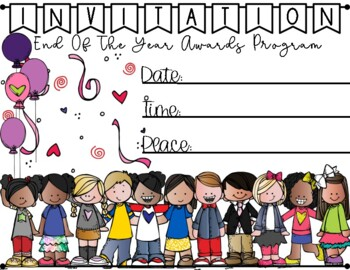Invitation To The End Of The Year Awards Program / Bilingual