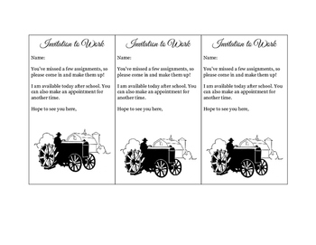 Invitation to Work Tickets (Tractor Theme)