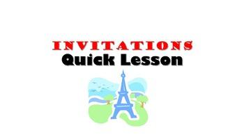 Invitations French Quick Lesson