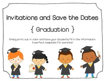 Invitations and Save the Dates (Blank): Graduation