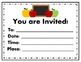 Invitations and Save the Dates (Blank) for Back to School