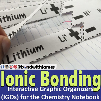 Ionic Bonding for Chemistry Interactive Notebooks and Lapbooks