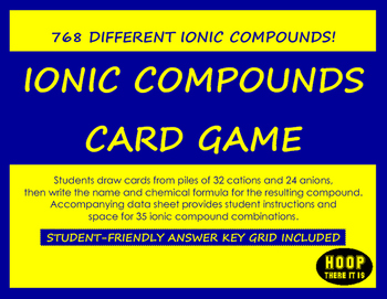 Ionic Compounds Card Game