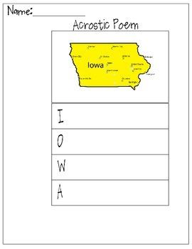 Iowa Acrostic Poem