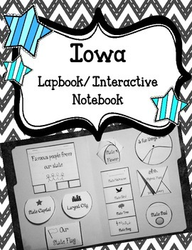 Iowa Lapbook/Interactive Notebook.  US State History and G