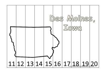 Iowa State Capitol Number Sequence Puzzle 11-20.  Geograph