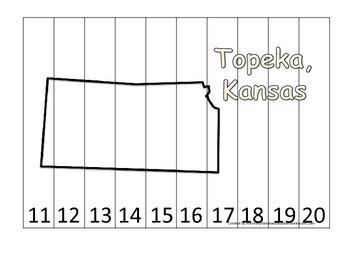 Kansas State Capitol Number Sequence Puzzle 11-20.  Geogra