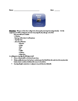 Ipad Storykit App Writing Assignment