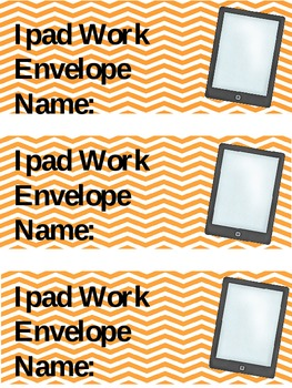 Ipad Work Envelope Label