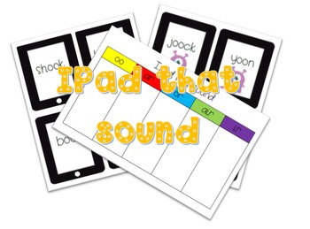 Ipad that sound oo, ar, or, air and ir