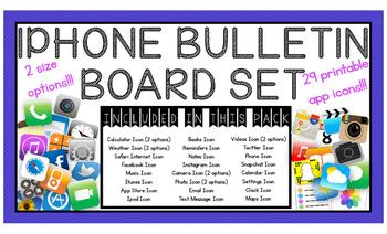 Iphone Bulletin Board Set
