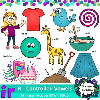 Ir Clipart - 20 images! R controlled Vowel - For commercia