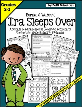 Ira Sleeps Over: a reading response/comprehension booklet