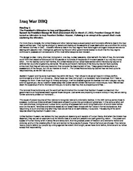Iraq War DBQ