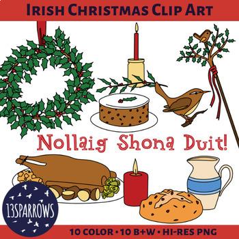 Irish Christmas Clip Art