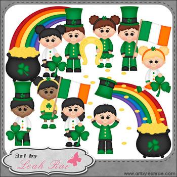 Irish Kids 1 - Art by Leah Rae Clip Art & Line Art / Digit