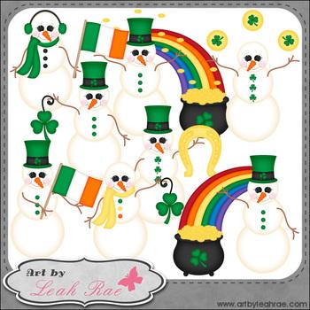 Irish Snowmen 1 - Art by Leah Rae Clip Art & Line Art / Di