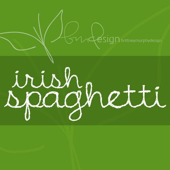Irish Spaghetti Font for Commercial Use