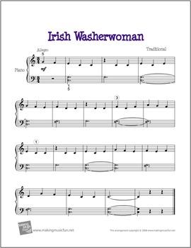Irish Washer Woman   Free Celtic Sheet Music for Piano (Di