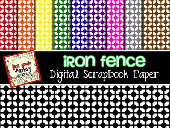 Iron Fence {Digital Backgrounds}