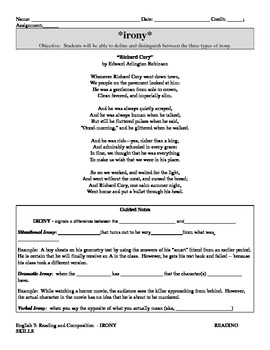 Irony Guided Notes and Practice using Crucible