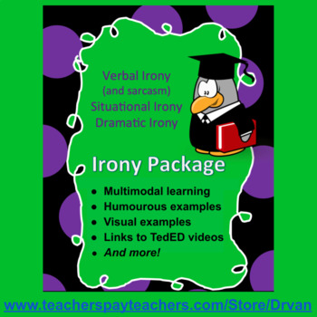 Irony Package: Presentation, Worksheets, Quizzes