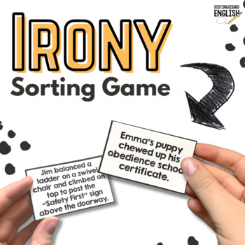 Irony Sorting Game for Situational, Dramatic, and Verbal Irony
