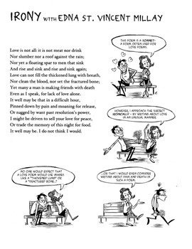 Edna St. Vincent Millay Explains Irony: Poetry Comics Acti