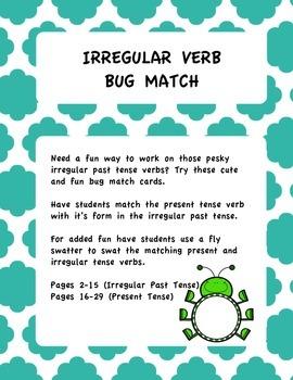 Irregular Past Tense Bug Match