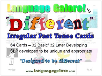 """Different"" Irregular Past Tense Practice Cards - Set of 64"