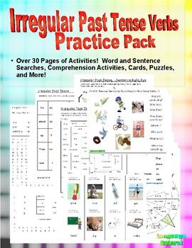 Irregular Past Tense Verb Practice Pack
