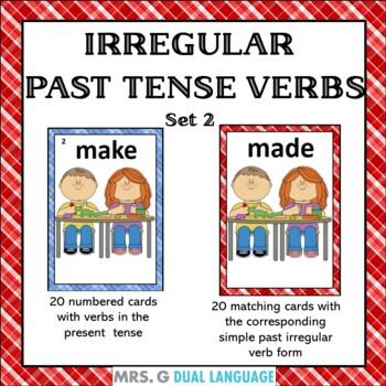 Irregular Past Tense Verbs- Matching Card Game Set 2