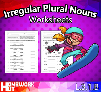 Irregular Plural Nouns Worksheets