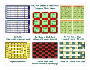 Irregular Plural Nouns 6 Board Game Bundle