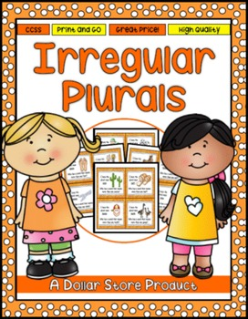 "Irregular Plural Nouns ""I Have Who Has"" Read Around Game"