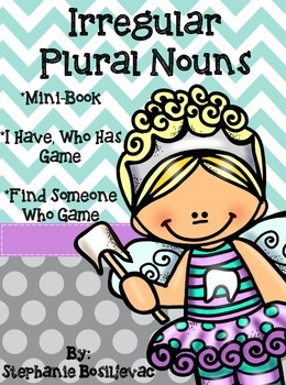 Irregular Plural Nouns (Mini Book and Games)