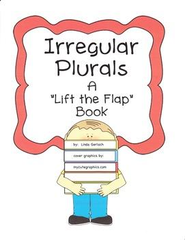 """Irregular Plurals """"Lift the Flap"""" Book & Quiz"""