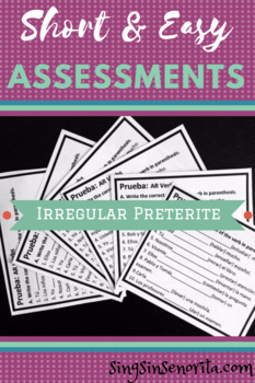 Irregular Preterite Assessment