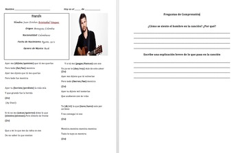 Irregular Preterite: Grammar in Context with Juanes Song a