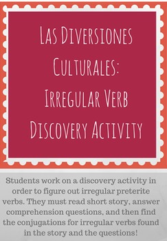 Irregular Preterite and Imperfect Discovery Activity: Las
