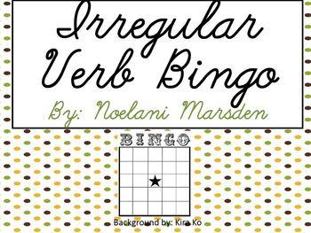 Irregular Verb Bingo- Journey's