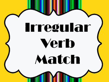Irregular Verb Match
