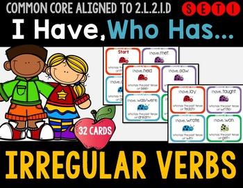 Irregular Verbs - I Have Who Has Game - Set 1