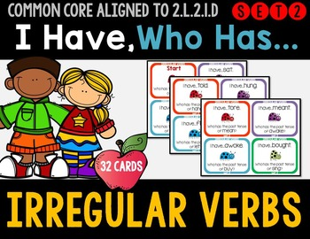Irregular Verbs - I Have Who Has Game - Set 2