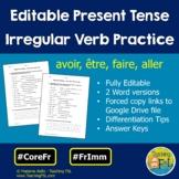 Irregular Verbs Avoir, Etre, Aller, Faire - Present Tense