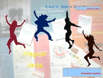 Irregular Verbs: Multiple Choice Game (with hyperlinks)