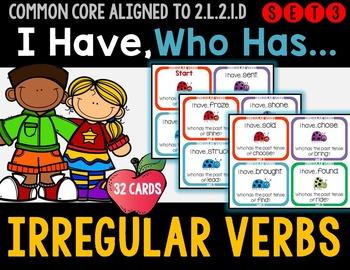 Irregular Verbs - I Have Who Has Game - Set 3