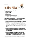 Alive or not Alive? Fire Essay - Life Science